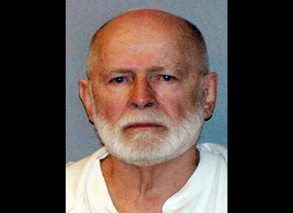 "FILE - This June 23, 2011 booking file photo provided by the U.S. Marshals Service shows gangster  James ""Whitey"" Bulger. Federal prosecutors argued Thursday, Nov. 7, 2013 that Bulger ""deserves no mercy"" and asked a judge to sentence him to two consecutive life sentences, plus five years, in a string of murders and extortions. Bulger, the 84-year-old former leader of the notorious Winter Hill Gang, was convicted in August after spending more than 16 years on the run. (AP Photo/ U.S. Marshals Service, File)"