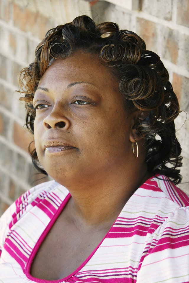 Cleta Jennings, Antwun Parker's mother, on her sister's front porch talking about Antwun in Oklahoma City Friday, May 29, 2009. Photo by Paul B. Southerland, The Oklahoman