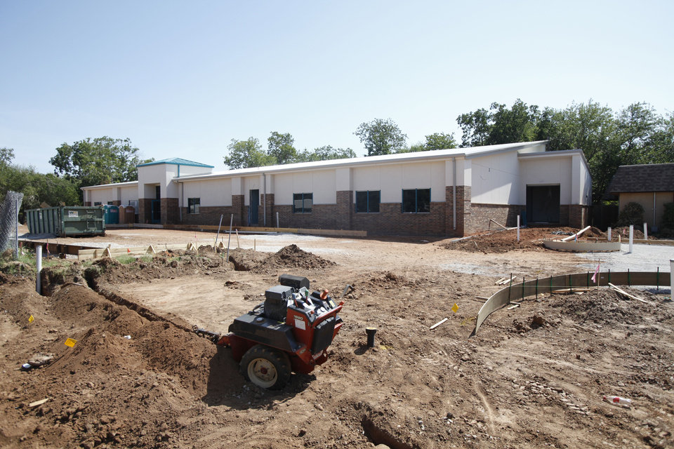 Construction of a new building is under way at the Dale Rogers Training Center in Oklahoma City. Photo By Steve Gooch, The Oklahoman