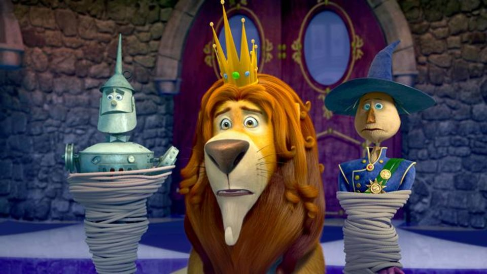 Photo -       Tin Man (voice of Kelsey Grammer), Lion (voice of James Belushi) and Scarecrow (voice of Dan Aykroyd) in Legends of Oz: Dorothy's Return.