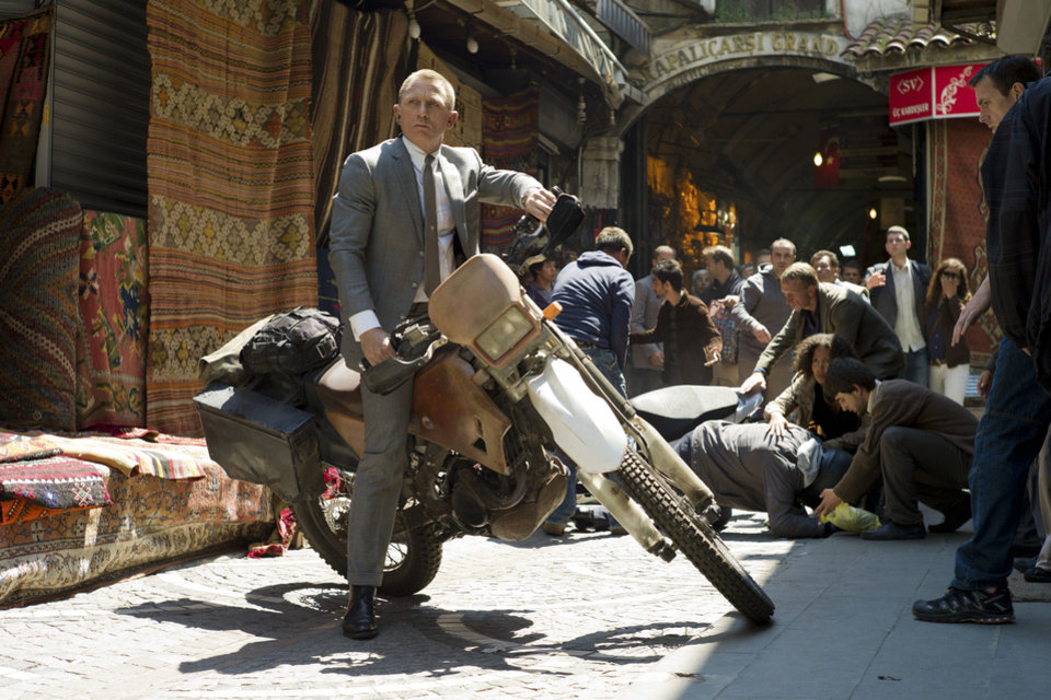 "Daniel Craig stars as James Bond in a scene from ""Skyfall.""  SONY PICTURES PHOTO"