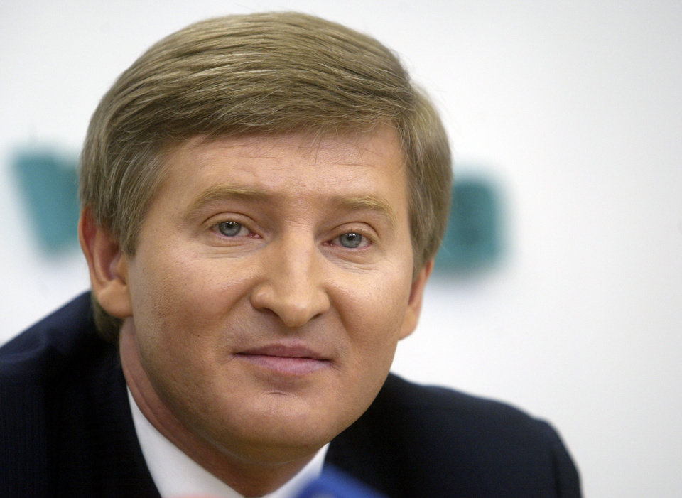 Photo - FILE - In this Thursday, March 30, 2006, file photo, Rinat Akhmetov, an eastern Ukrainian steel and coal magnate speaks to the media in Kiev, Ukraine. In the roiling debate over eastern Ukraine, where pro-Russian separatist attacks have turned increasingly bloody, neither the country's richest man nor some of his dirt-poor compatriots have much time for patriotism, ethnic feuding or political parties. Rinat Akhmetov, an industrialist whose companies employ 300,000 people, and who may be the single most powerful man in this part of the country, focuses on one topic: money. (AP Photo/Efrem Lukatsky, File)