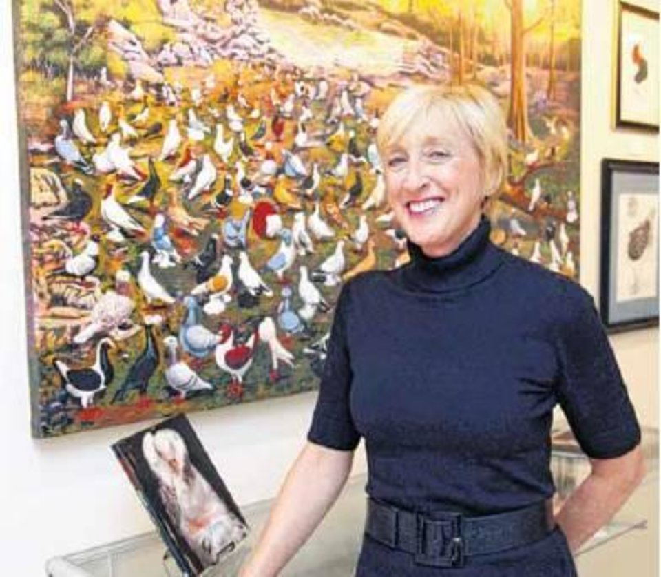Lorrie Monteiro, curator of the American Pigeon Museum and Library - Photo by Paul Hellstern
