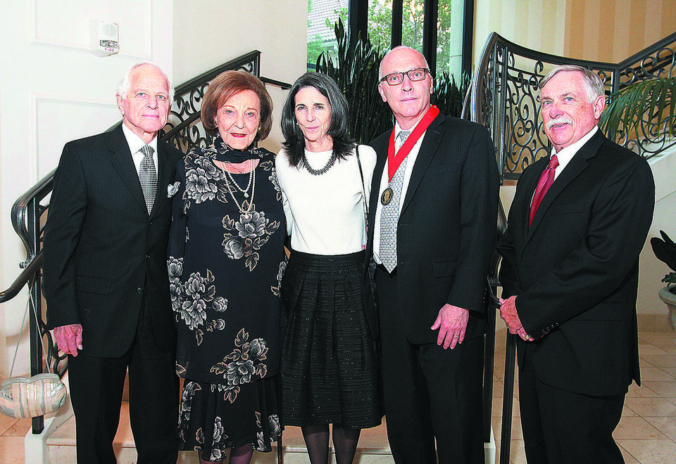 Photo - Ben and Shirley Shanker, Lisa Gordinier, Thom  Shanker, Mike Shannon.  PHOTO BY DAVID FAYTINGER, FOR THE OKLAHOMAN