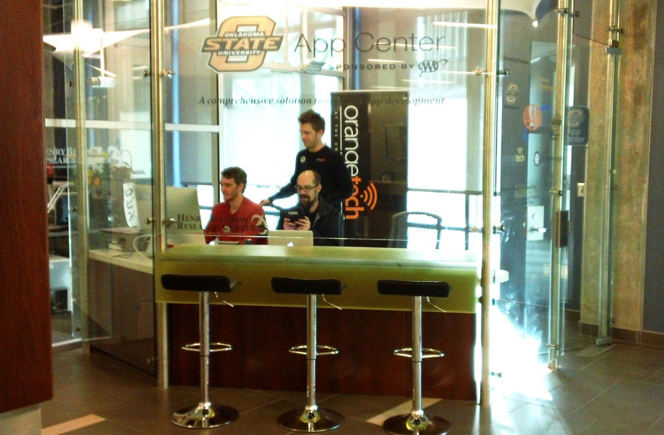 The new Oklahoma State University AppCenter, which officially launches with a ribbon cutting on Tuesday, has a mission of providing support for students, faculty and members of the OSU community who are interested in developing mobile and web applications. PHOTO PROVIDED.