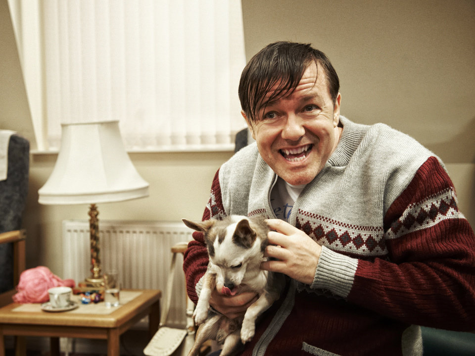 Photo - This image released by Netflix shows Ricky Gervais in a scene from