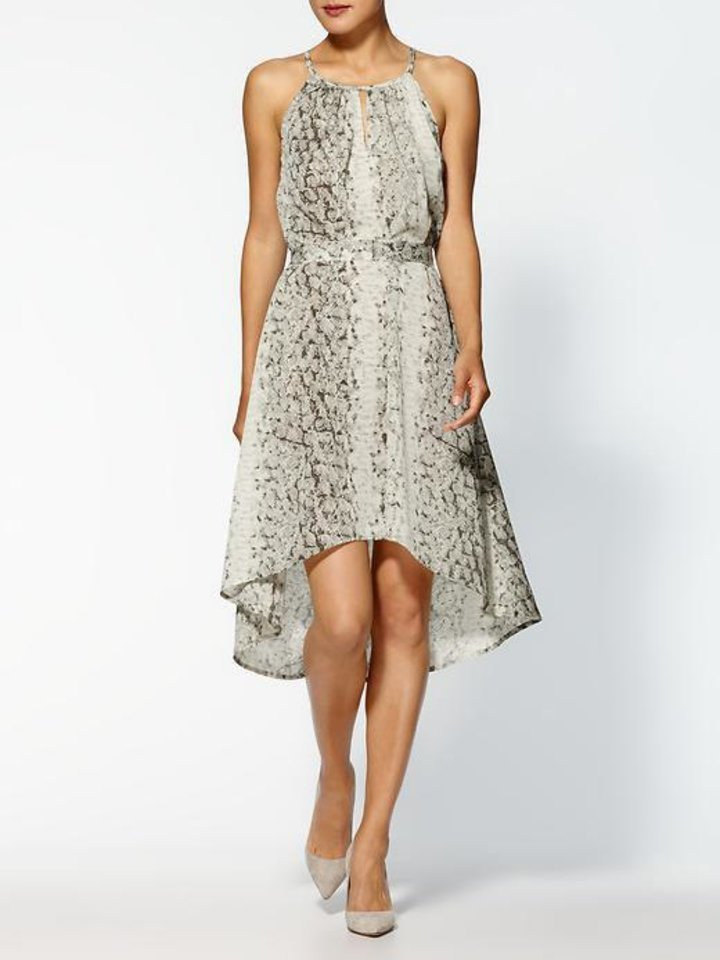 For those who follow the Chinese zodiac, the year of the snake begins Feb. 10. Some ways to incorporate the symbol of the year into your wardrobe, with no harm done to any living creature include this Sabine print midi dress, $36.99 from Piperlime.com. (Piperlime.com via Los Angeles Times/MCT)