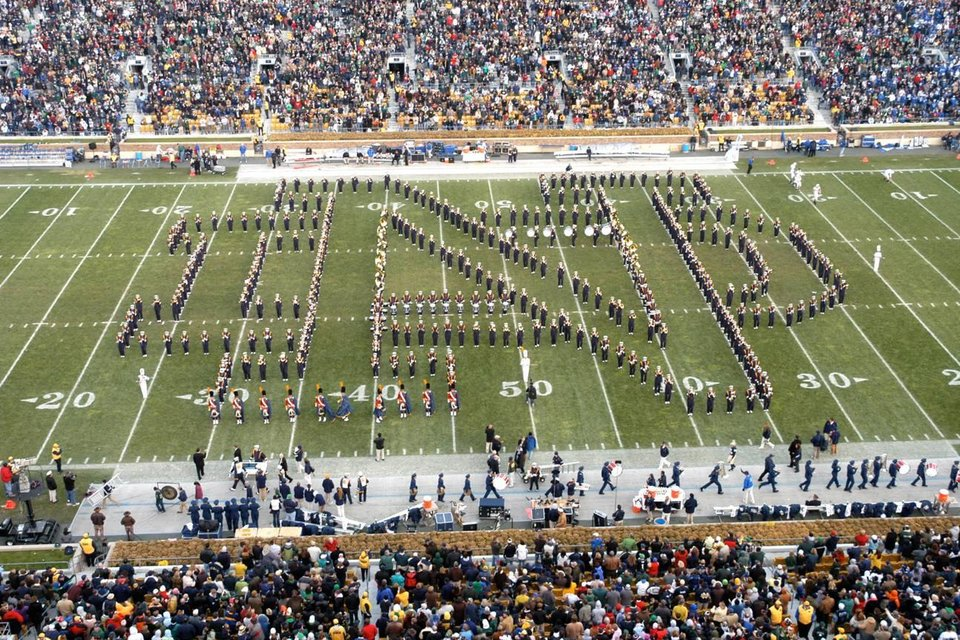 Notre Dame\'s marching band will rehearse at Noble High School on Oct. 27 before OU\'s home game against the Irish. The event is free and open to the public.