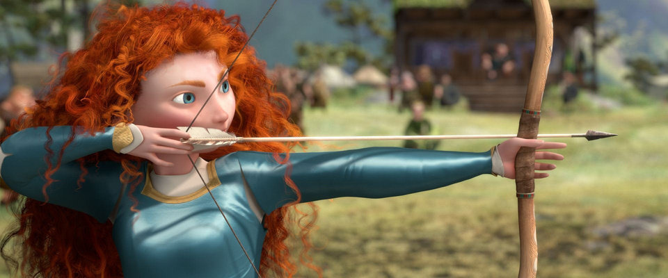 Photo - Princess Merida (voice of Kelly Macdonald) takes aim in a scene from