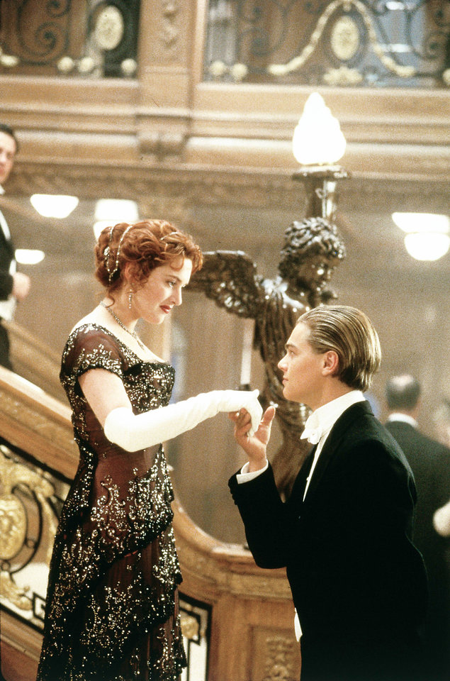 "Kate Winslet and Leonardo DoCaprio in a scene from ""Titanic."" PARAMOUNT PICTURES PHOTO <strong></strong>"