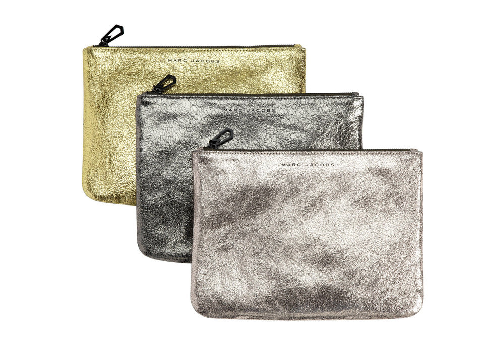 Marc Jacobs metallic clutches sold at www.Target.com. <strong></strong>