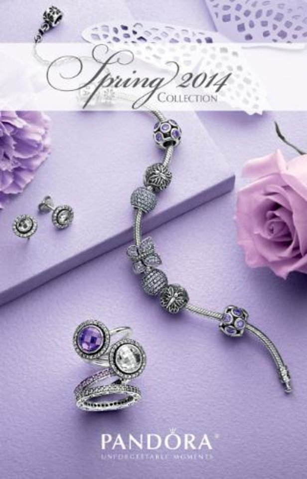 Photo -  PANDORA greets spring with jewelry inspired by pastels, butterflies and flowers.  (PRNewsFoto/PANDORA Jewelry)