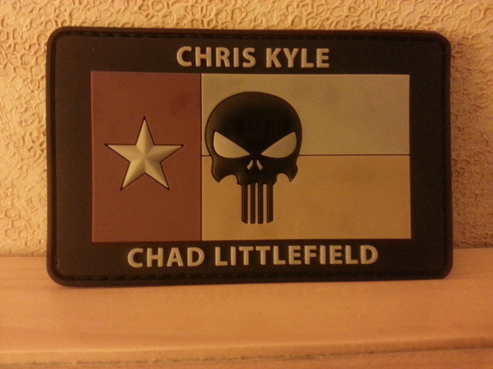 Photo -  AmericanSnipers.org's Chris Kyle, Chad Littlefield patch