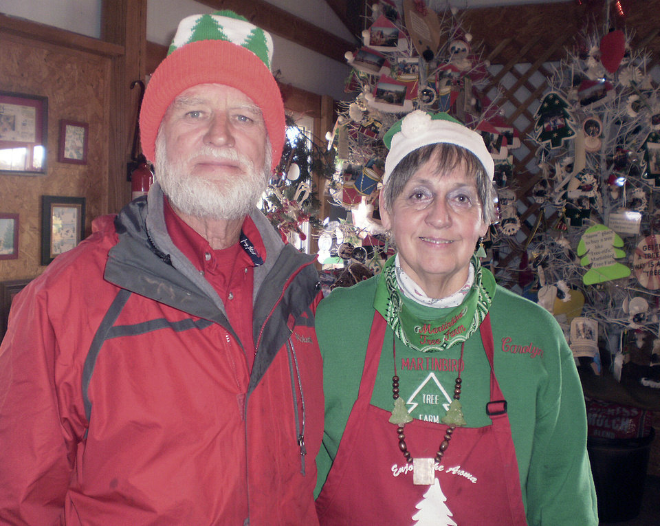 CHRISTMAS TREES / BOB MARTIN: Bob and Carolyn Martin planted their first Christmas trees in 1979 at Martinbird Tree Farm in Tuttle. At age 71, Bob Martin is not planning to retire anytime soon.