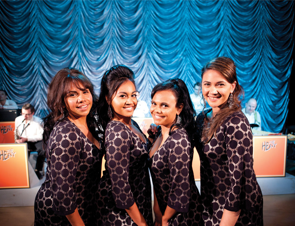This film publicity image released by The Weinstein Company shows, from left, Deborah Mailman as Gail, Jessica Mauboy as Julie, Miranda Tapsell as Cynthia, and Shari Sebbens as Kay from