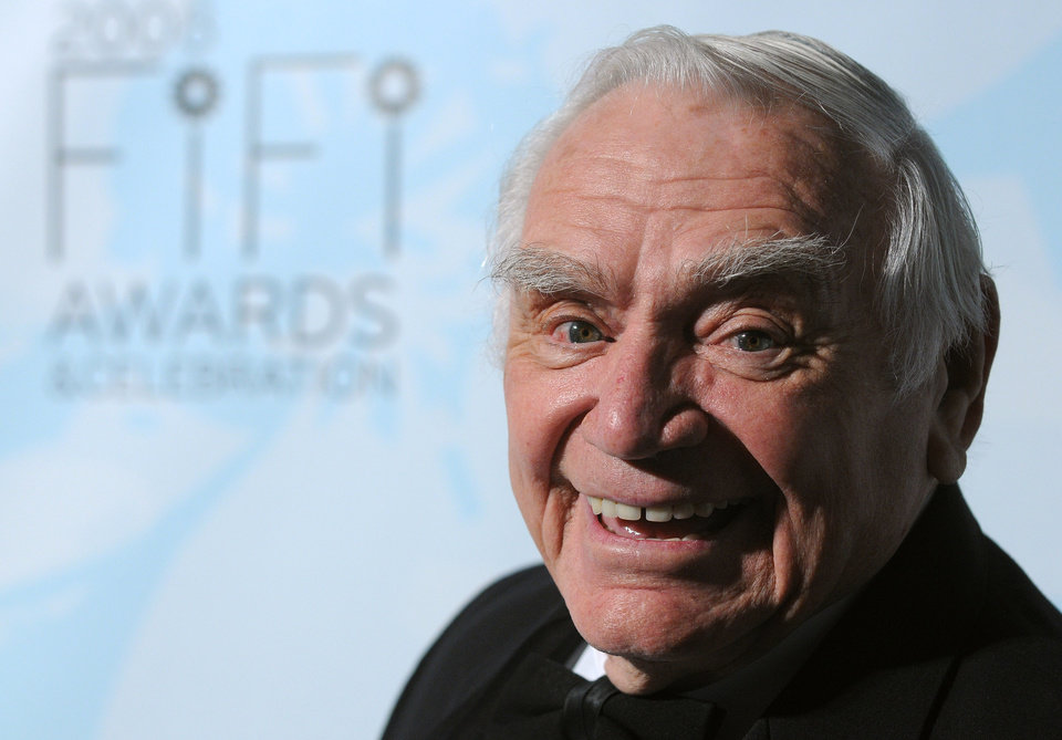 Photo - Actor Ernest Borgnine arrives at the 36th Annual FIFI Awards hosted by the Fragrance Foundation, honoring the fragrance industry's creative achievements on Tuesday, May 20, 2008, in New York. (AP Photo/Peter Kramer) ORG XMIT: NYPK118