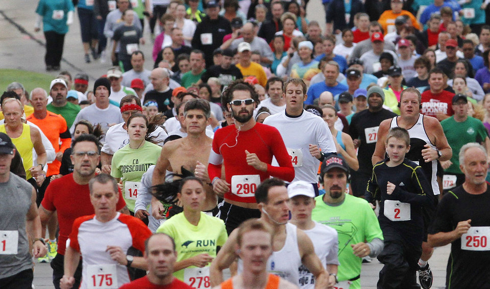 Nearly 300 people participated Saturday in the Renaissance Run, a 5k run and walk that began at the Midwest City Community Center. Photos by Jim Beckel, The Oklahoman