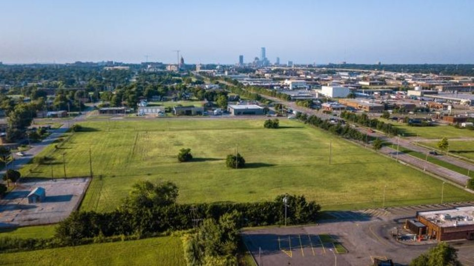 Photo -  Homeland is set to build a new 30,000-square-foot store and a 35,000-square-foot headquarters at the northeast corner of NE 36 and Lincoln Boulevard, shown here looking southwest towards the State Capitol and downtown Oklahoma City. Photo by Dave Morris, The Oklahoman.