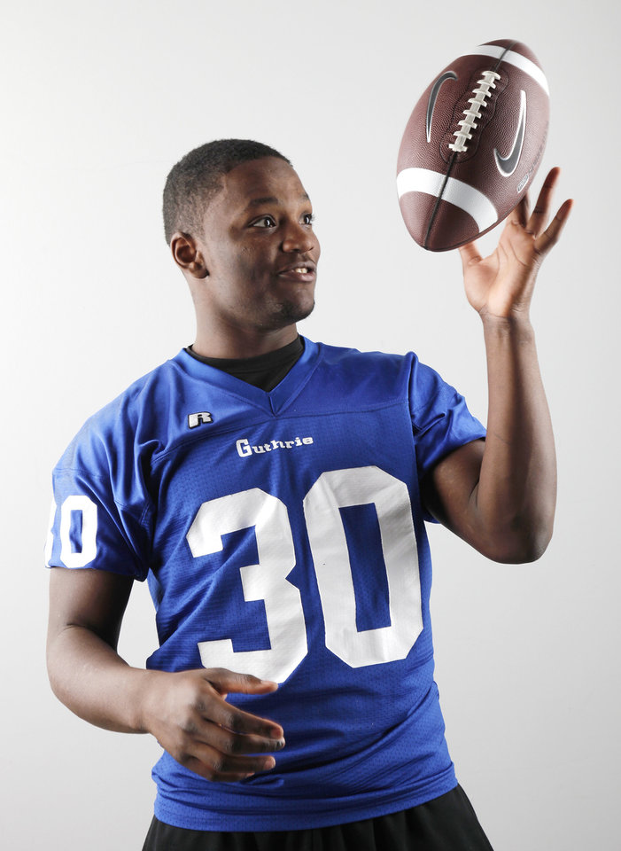 Oklahoman Big All-City and All-State defensive player of the year Kentrell Brothers, Guthrie , Dec. 22, 2010. Photo by Doug Hoke, The Oklahoman.