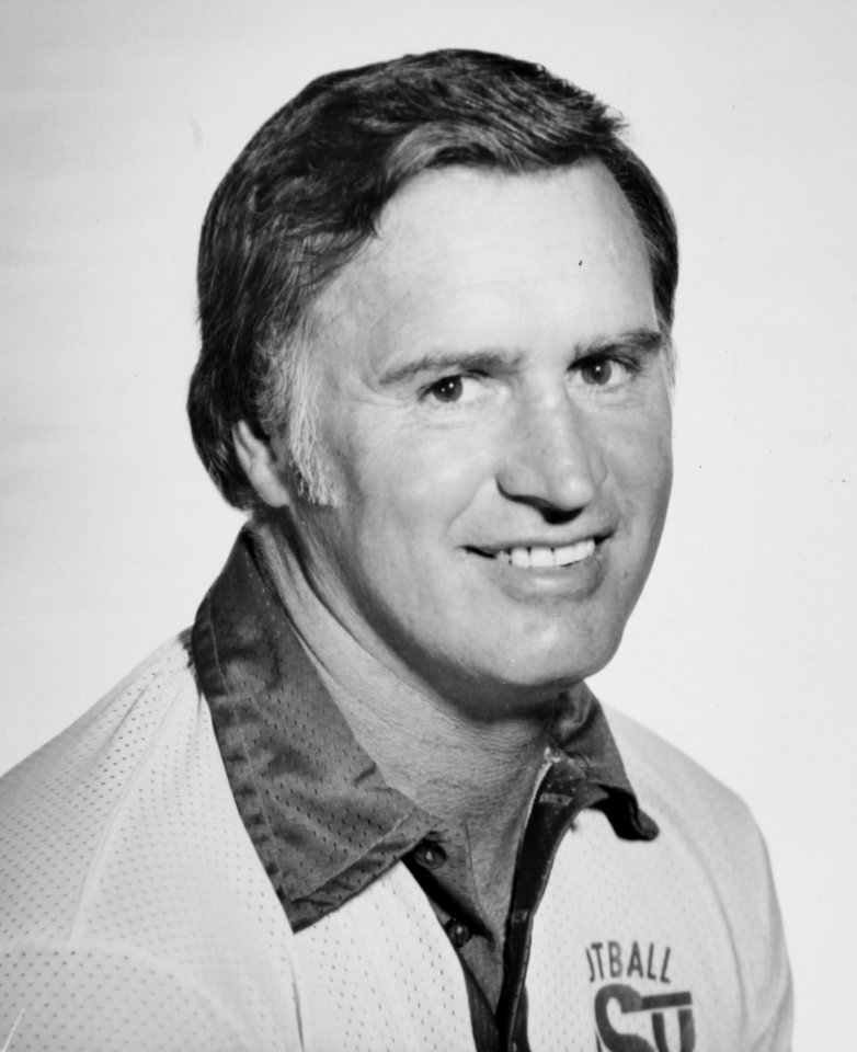 Aug. 28, 1977: Oklahoma State University (OSU) football coach Jim Stanley
