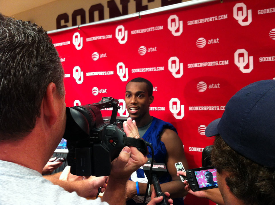 Photo - Justin Brown made a quiet visit to OU a couple weeks ago. He officially became part of the roster last week. PHOTO PROVIDED      ORG XMIT: 1208142201015986