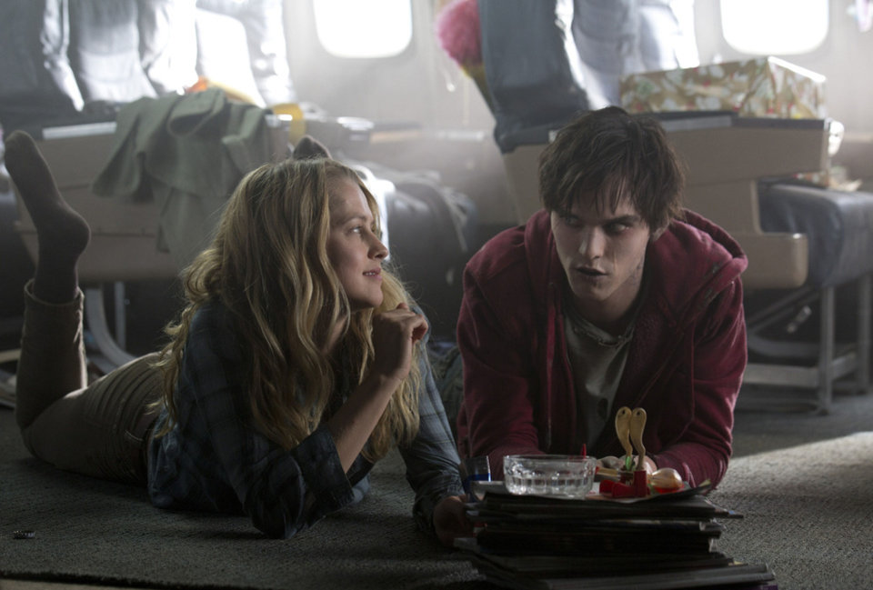 "Teresa Palmer and Nicholas Hoult in a scene from ""Warm Bodies.""  Summit Entertainment Photo <strong>Jan Thijs</strong>"