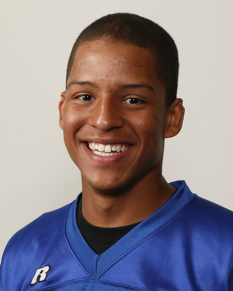 Photo - Kai Callins, Guthrie football player, poses for a mug shot during The Oklahoman's Fall High School Sports Photo Day in Oklahoma City, Wednesday, Aug. 15, 2012. Photo by Nate Billings, The Oklahoman