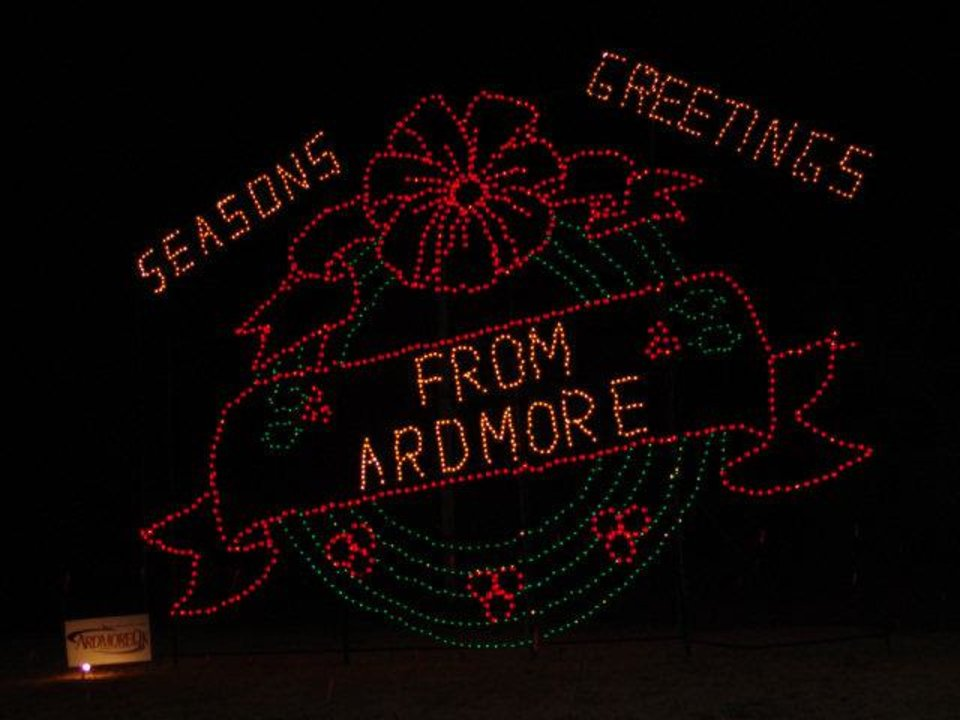 This display is part of the Festival of Lights in Ardmore. Photo provided