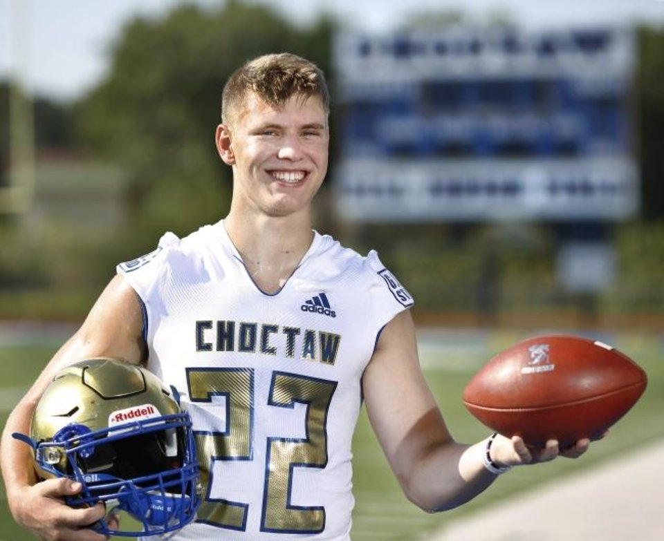 Photo -  Choctaw linebacker Jeff Roberson, who is committed to OSU, is No. 8 on The Oklahoman's Super 30 list.  [Jim Beckel/The Oklahoman]
