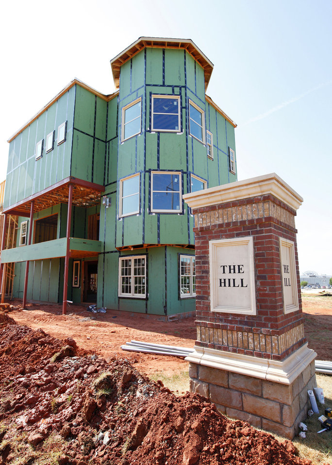 Construction continues on The Hill, where townhomes are selling almost as fast as they are getting built. <strong>PAUL B. SOUTHERLAND</strong>