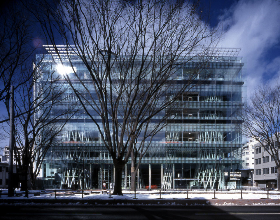 Photo - This publicity photo provided courtesy of Toyo Ito and Associates, Architects, shows Japanese architect Toyo Ito's Sendai Mediatheque, 1995-2000, in Sendai-shi, Miyagi, Japan. Ito has won the 2013 Pritzker Architecture Prize, the prize's jury announced Sunday, March 17, 2013. Ito, the sixth Japanese architect to receive the prize, is recognized for the libraries, houses, theaters, offices and other buildings he has designed in Japan and beyond. (AP Photo/Courtesy of Toyo Ito and Associates, Architects, Nacasa and Partners Inc.)