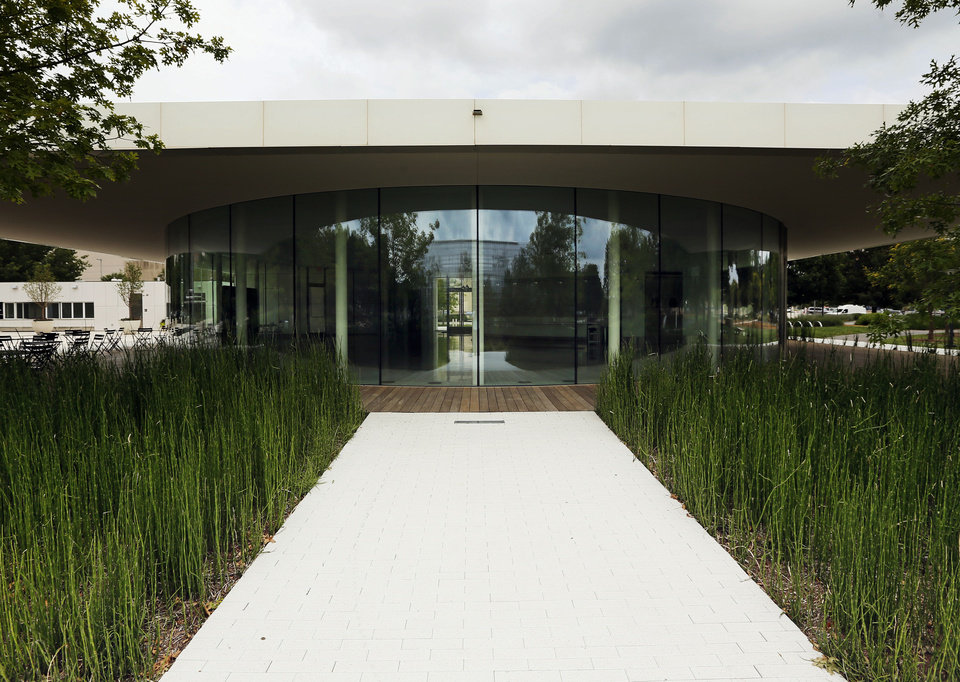 Photo - Restaurateur Peter Holloway will soon operate this restaurant space at The Myriad Botanical Gardens as Park House.  NATE BILLINGS - NATE BILLINGS