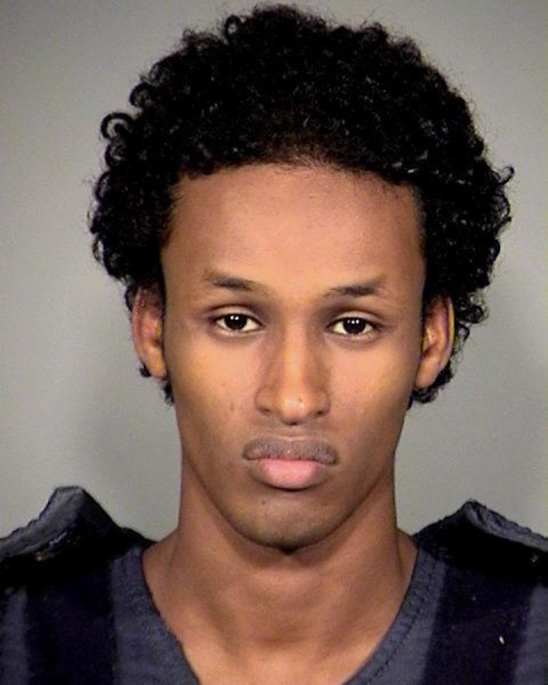 FILE - A Nov. 27, 2010 file photo provided by the Multnomah County Sheriff's Office shows Mohamed Mohamud. Justice Department attorneys Monday focused on the contact between the Oregon terrorism-sting suspect and suspected terrorists overseas in the opening salvo of their case. FBI agent Miltiadis Trousas said government agents first found Mohamud because of his emails to an American-born al-Qaida recruiter. (AP Photo/Mauthnomah County Sheriff's Office, File)