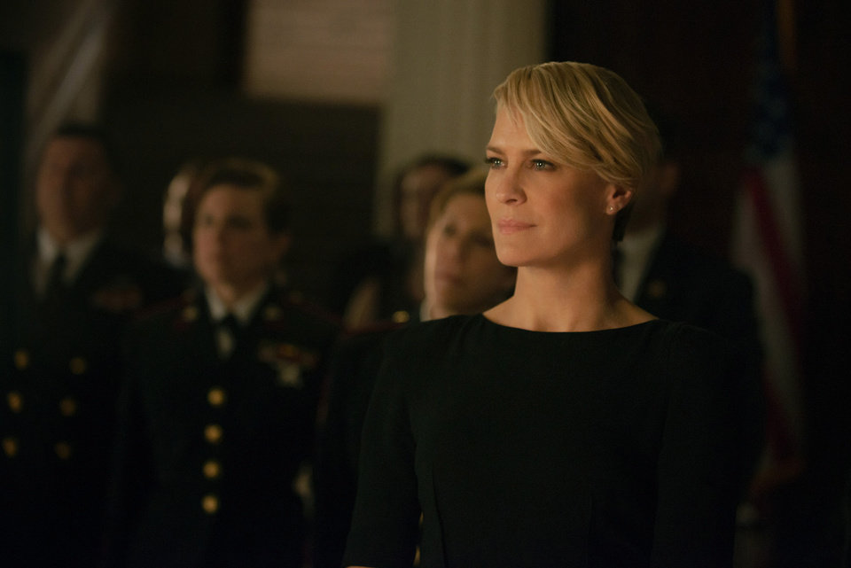 Photo - This photo released by Netflix shows Robin Wright as Claire Underwood in season 2 of Netflix's