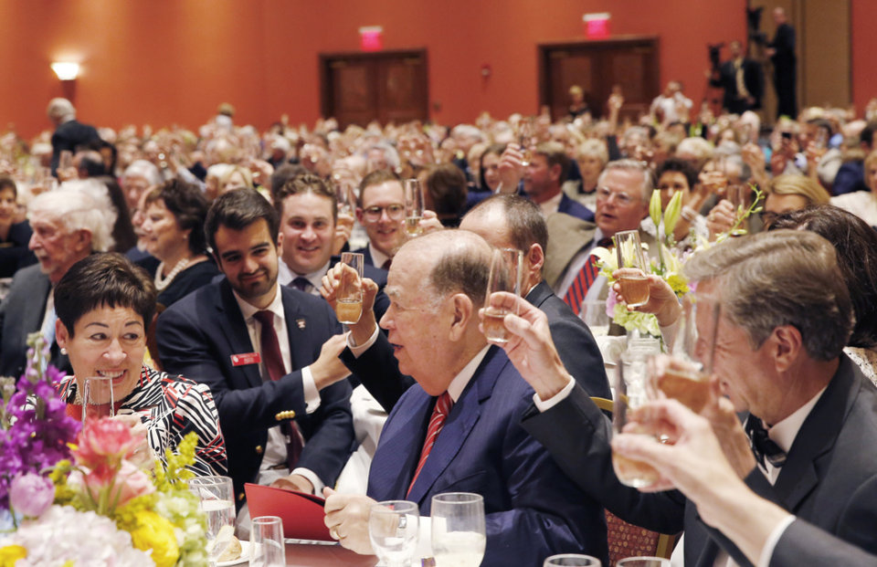 Photo - A Toast to Molly Shi Boren and David L. Boren. PHOTO BY SARAH PHIPPS, THE OKLAHOMAN
