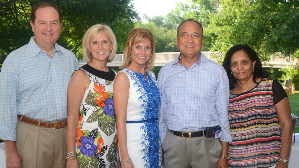 Photo - Bruce and Donna Lawrence, Molly Ross, Dr. Murali Krishna, Sam Krishna. Photo by David Faytinger, for The Oklahoman