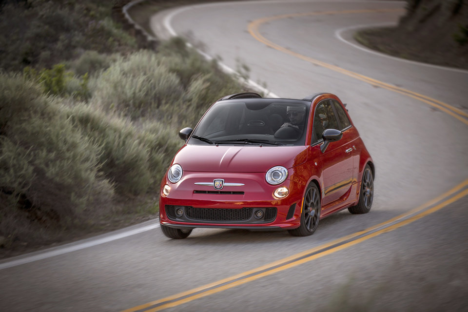Photo - The 2013 Fiat 500 Abarth Cabrio is seen in an undated photo provided by Chrysler.  (AP Photo/Chrysler)