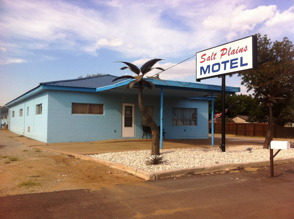 Photo - The 10-room Salt Plains Motel in Jet, 35 miles northwest of Enid, is booked soild for the foreseeable future, co-owner-manager Donna Keller says. Energy and consrtruction crews working in the countryside around the town of 214 rent the rooms for months at a time, she says.  Richard Mize - The Oklahoman