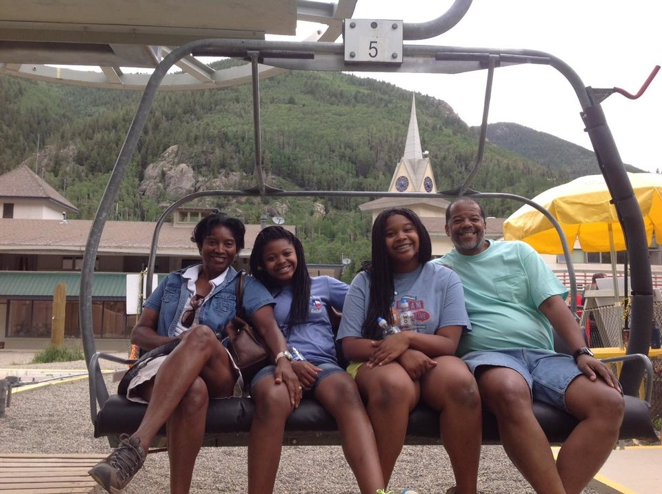 Photo - Road Trippers on the chairlift at Taos Sky Valley. Photo by Carla Meadows