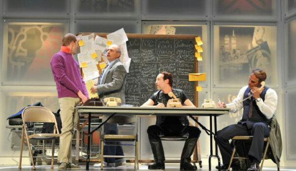 Brian Hamilton, Michael Corolla and Scotty Taylor appear in Larry Kramer's Tony-award-winning drama �The Normal Heart,� making its Oklahoma premier this weekend at City Rep. Photo provided
