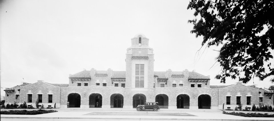 Photo -  The Union Train Station is shown shortly after opening. [Photo provided by the Oklahoma Historical Society]