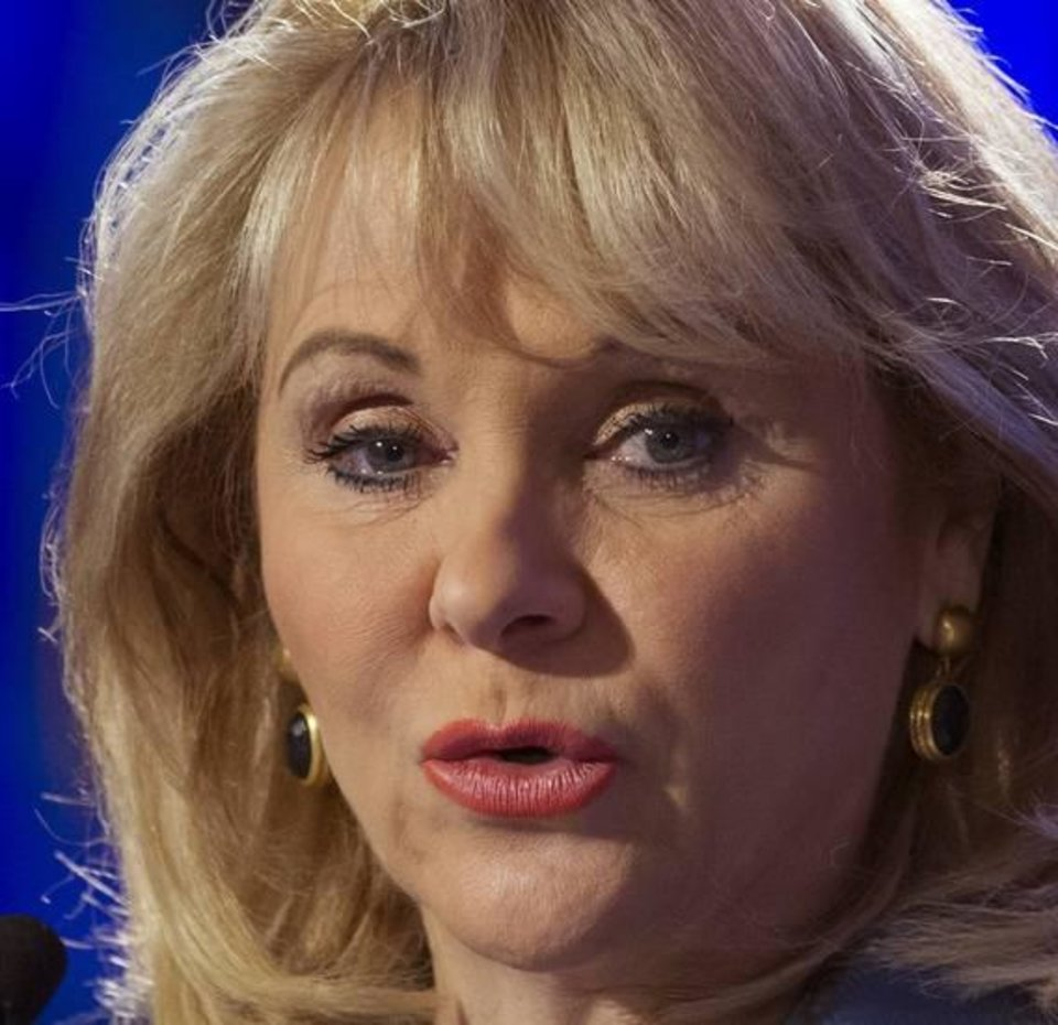 Photo -  Gov. Mary Fallin issued a statement Monday condemning the 'black mass' organized by satanists.