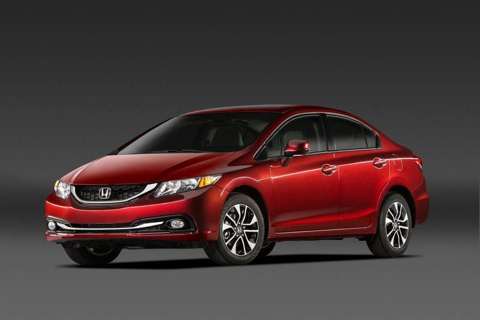 Photo - This undated image made available by Honda shows the 2013 Honda Civic EX-L Sedan. (AP Photo/Honda)