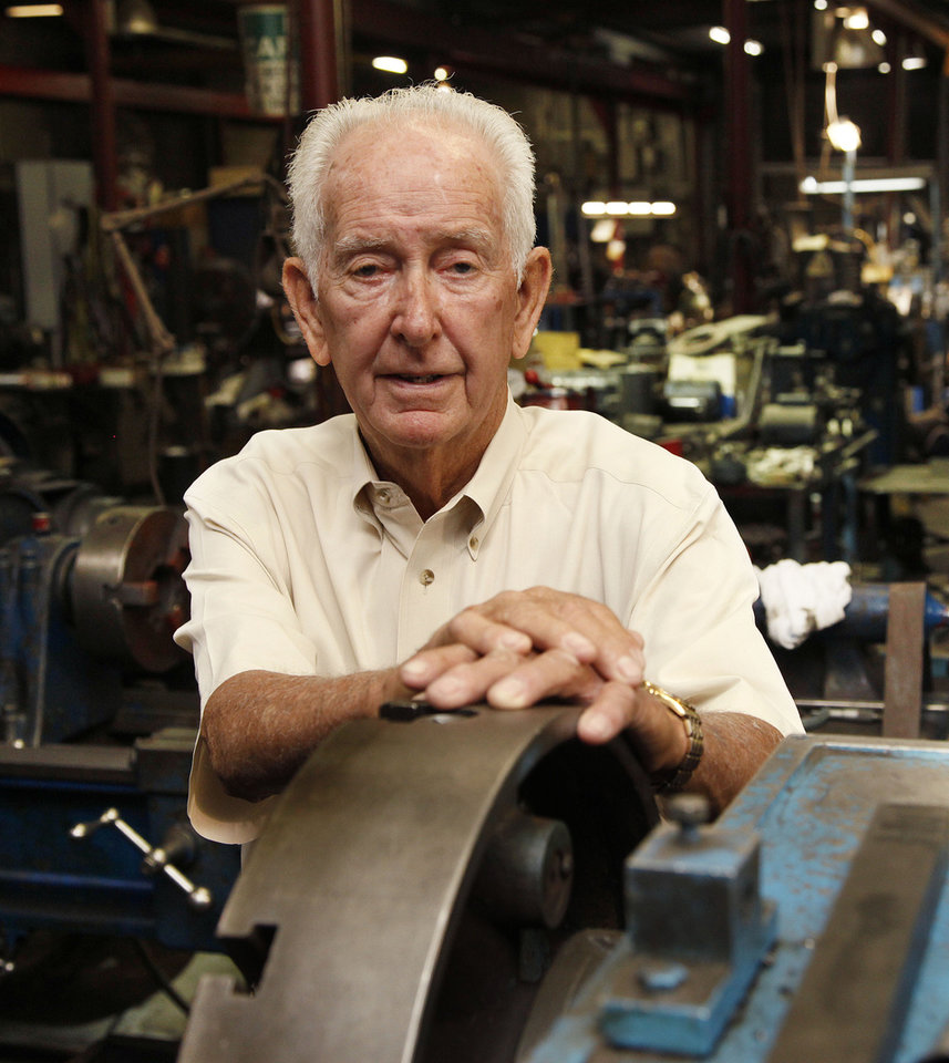Photo -  Capitol Electric Motor Repair owner Roland Harrison will celebrate 50 years at his business on Sunday.    PAUL HELLSTERN -  Oklahoman