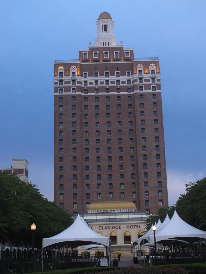 Photo - This July 24, 2014 photo shows the former Claridge Casino Hotel in Atlantic City that is currently operating as a non-casino hotel. Its new use could be a model for three current casinos due to shut down by mid-September. (AP Photo/Wayne Parry)