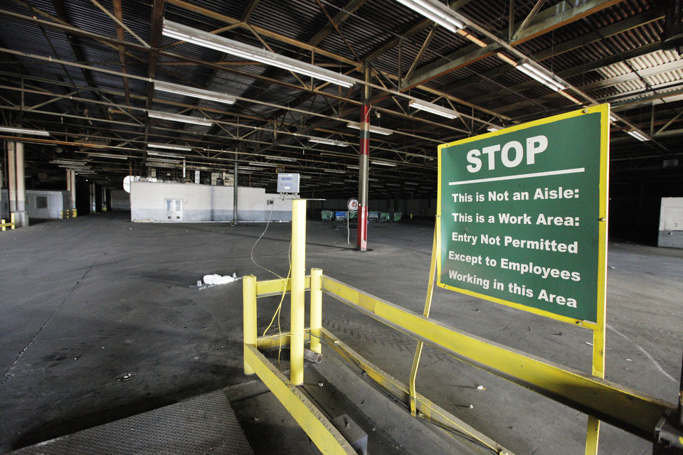 Photo -  An interior view of the former Bridgestone/Firestone Dayton Tire factory, 2500 S Council Road, now owned by Producers Cooperative Oil Mill and being salvaged for scrap. PHOTO BY PAUL B. SOUTHERLAND, THE OKLAHOMAN   PAUL B. SOUTHERLAND -