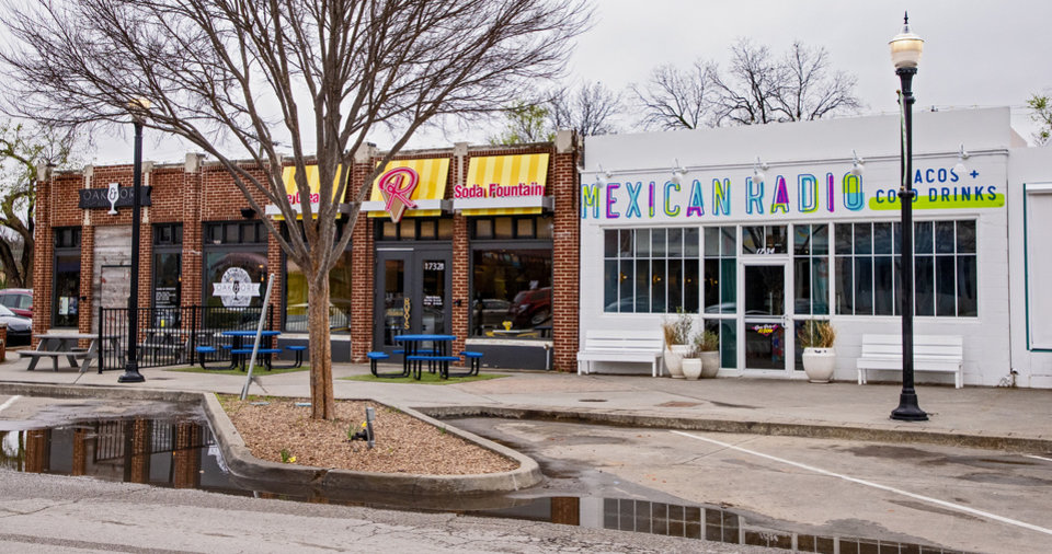 Photo - Exterior of food and drink businesses in the Plaza District in Oklahoma City, Okla. on Tuesday, March 17, 2020.  [Chris Landsberger/The Oklahoman]