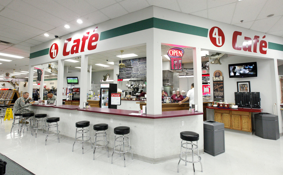 Photo -  The 4 U Cafe inside H & H Gun Range, 400 S Vermont, is one of several expansions added by owner Miles Hall.   PAUL B. SOUTHERLAND -  PAUL B. SOUTHERLAND