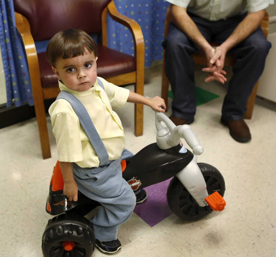 Troy Yoder, 3,     at Integris Baptist Medical center on Monday, Feb. 11, 2013.    Photo by Jim Beckel, The Oklahoman