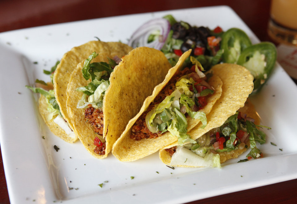 Photo - Quinoa tacos highlight the appetizer menu at Picasso Cafe in Oklahoma City. Photo by Paul Hellstern, The Oklahoman  PAUL HELLSTERN - Oklahoman